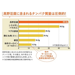 高野豆腐 タンパク質 たんぱく質