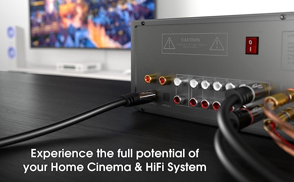 Kabeldirekt toslink optical digital audio cable fiber home theater male gold plated