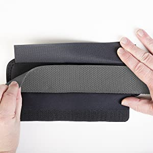 Lay strap across back of pad.