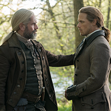Duncan Lacroix as Murtagh Fitzgibbons Fraser with Jamie