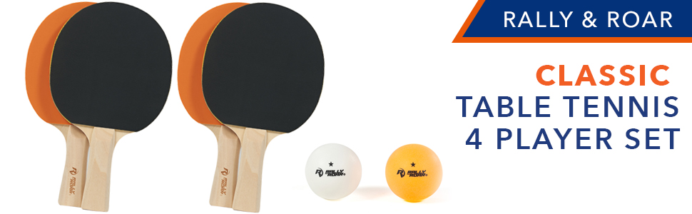 Table tennis classic paddles