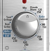 bake broil toast keep warm air fry functions