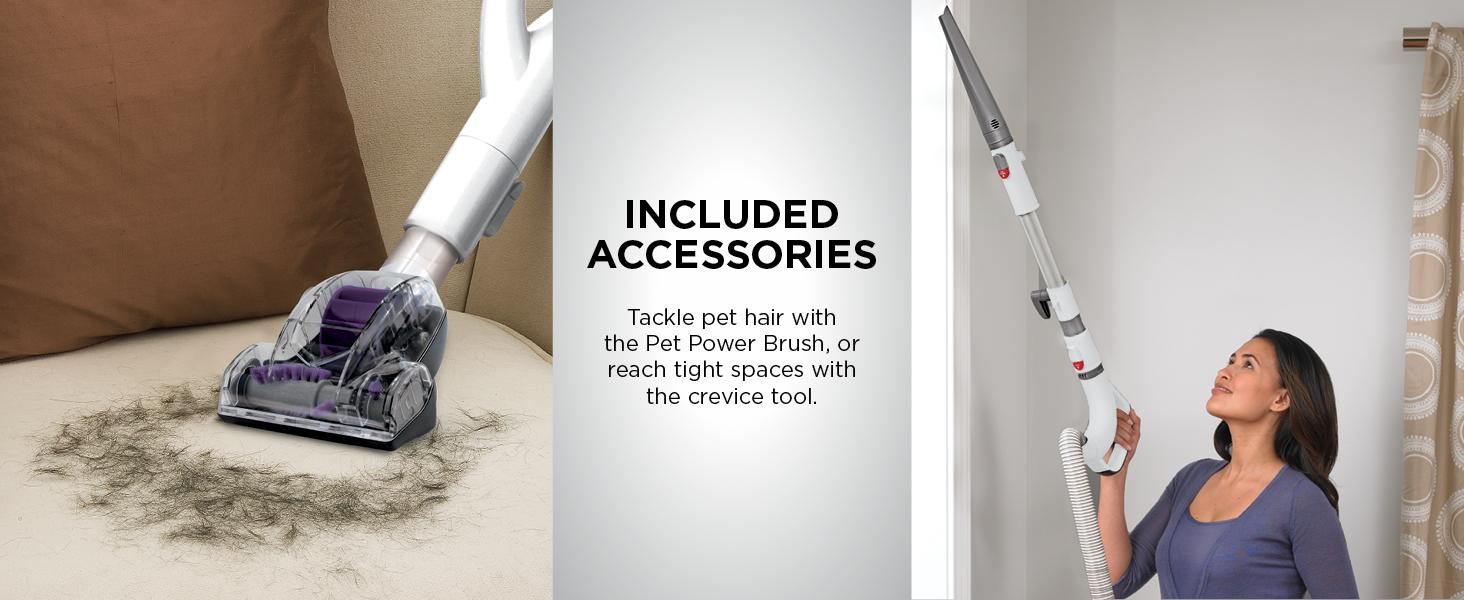 vacuum accessories, vacuum parts, pet power brush, crevice tool