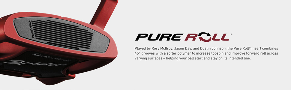 TaylorMade Pure Roll Insert, played by the worlds best, delivers improved forward roll