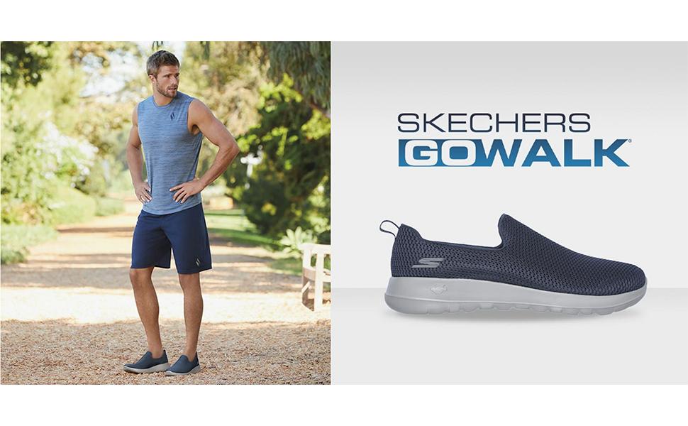 skechers go walk mens slip-on walking shoes