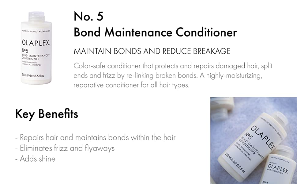 Bond maintenance conditioner, maintain bonds and reduce breakage.