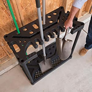 Keter Tool Rack Storage Features Slotted Storage To Store Garden Tools And  Hand Tools