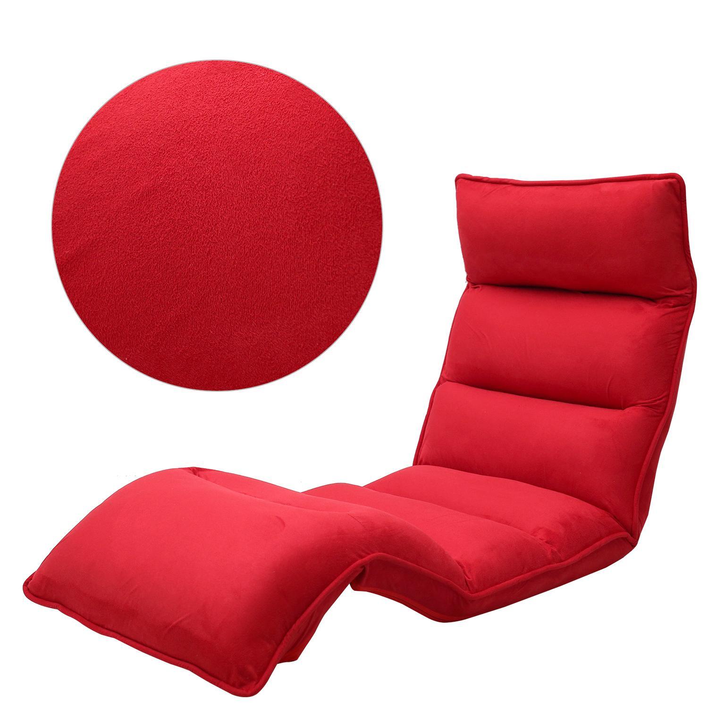 Merax upholstered lazy sofa floor sofa chair for Floor couch amazon