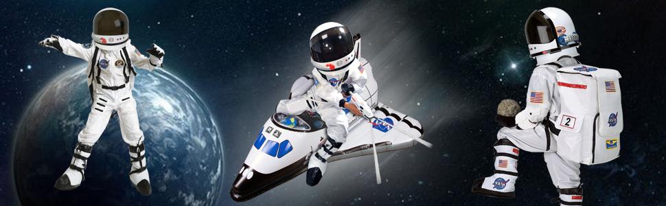 Astornaut suit boot backpack gloves space shuttle helmet space pack