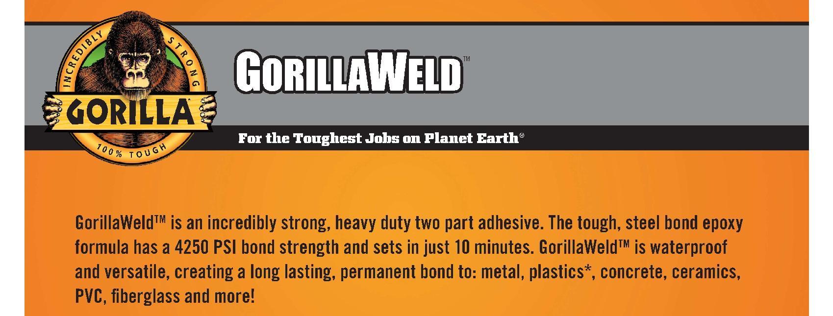 Gorilla Heavy Duty Gorillaweld Steel Bond 2 Part Epoxy Resin 280 Gram View Larger