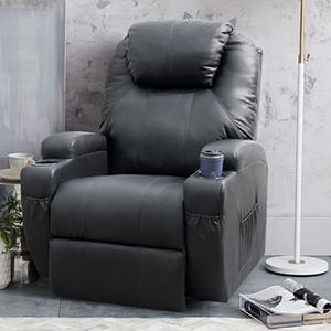 Mua Homall Recliner Chair with Massage Single Living Room Huge Thick Padded Heating Function Sofa Seat, Black trên Amazon Mỹ chính hãng 2020 | Fado
