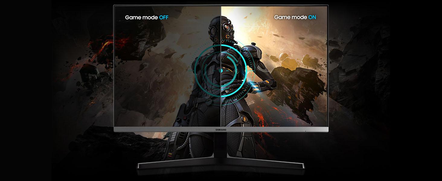 Side by side comparison of Game mode OFF v/s ON