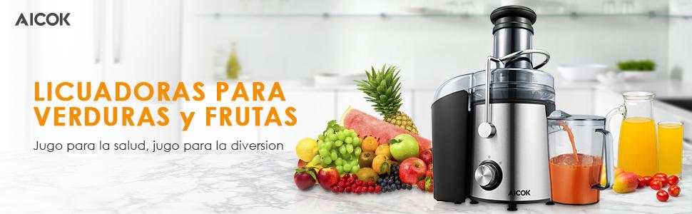 Aicok Licuadora Exprimidor y Extractor de Zumos: Amazon.es: Hogar