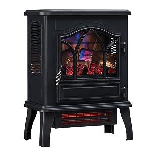 Brilliant Duraflame Dfi 470 04 Infrared Quartz Fireplace Stove Black Download Free Architecture Designs Intelgarnamadebymaigaardcom