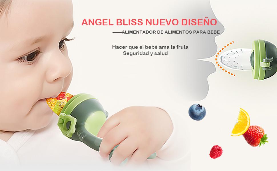ANGELBLISS Alimentador antiahogo bebe, chupete fruta bebe ...