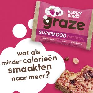 De berry burst super food oat bites van graze.