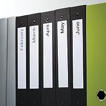 Etiquetas pequeñas para archivadores de palanca