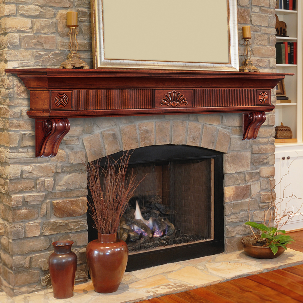 pearl mantels 120 48 windsor fireplace mantel surround 48 inch unfinished fireplace grates. Black Bedroom Furniture Sets. Home Design Ideas