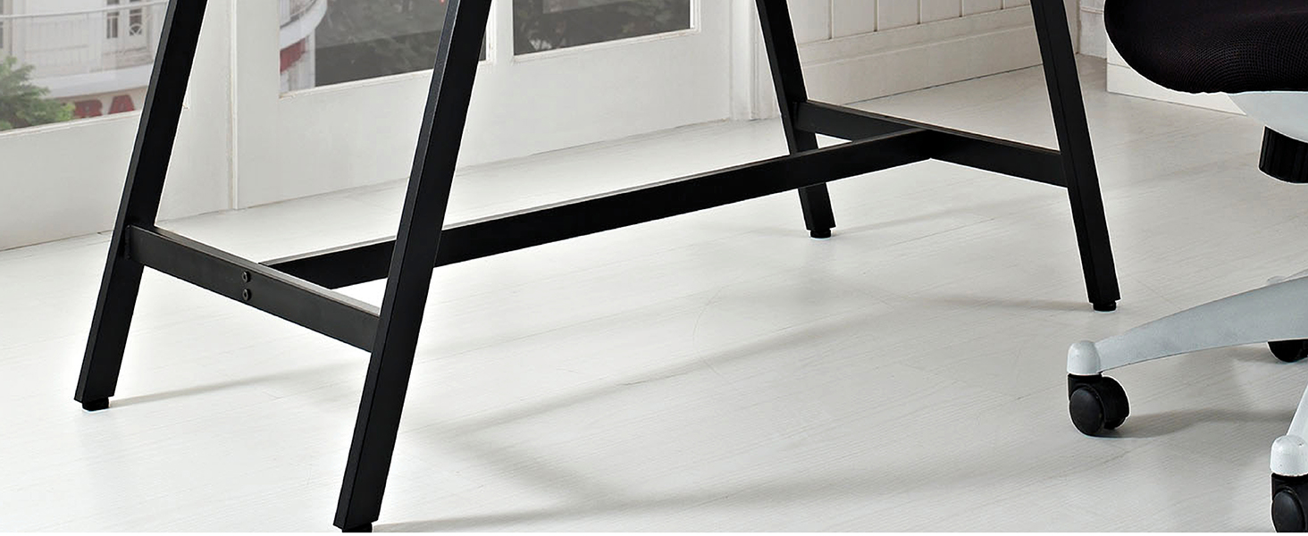 adjustable foot,powder coated,black steel,table level,dynamic piece,writing table