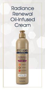 Gold Bond lotion that makes skin glow.