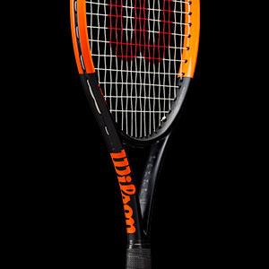 Wilson Unisexs Burn 100 Team Tennis W//O CVR Racquet-Black Gunmetal//Orange 1 1 Grip