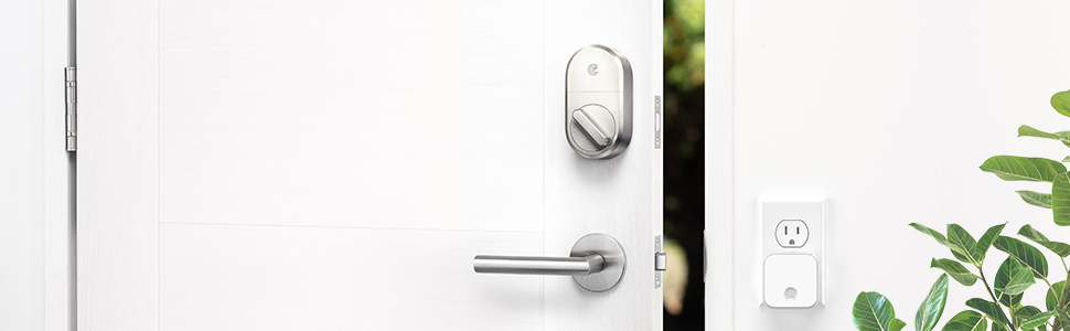 Smart Lock, August smart lock, electronic lock, satin nickel lock, smart home
