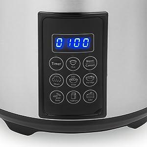 Zoom sur le panneau de contrôle du cuiseur à riz Tristar RK-6138