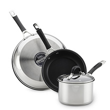 cookware, pots and pans, cookware set, nonstick cookware, stainless steel cookware, nonstick skillet