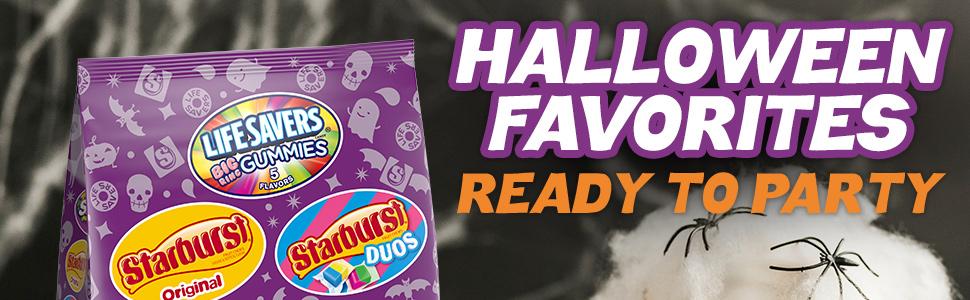 Life Savers Gummies, Starburst and Skittles Halloween Candy Mix