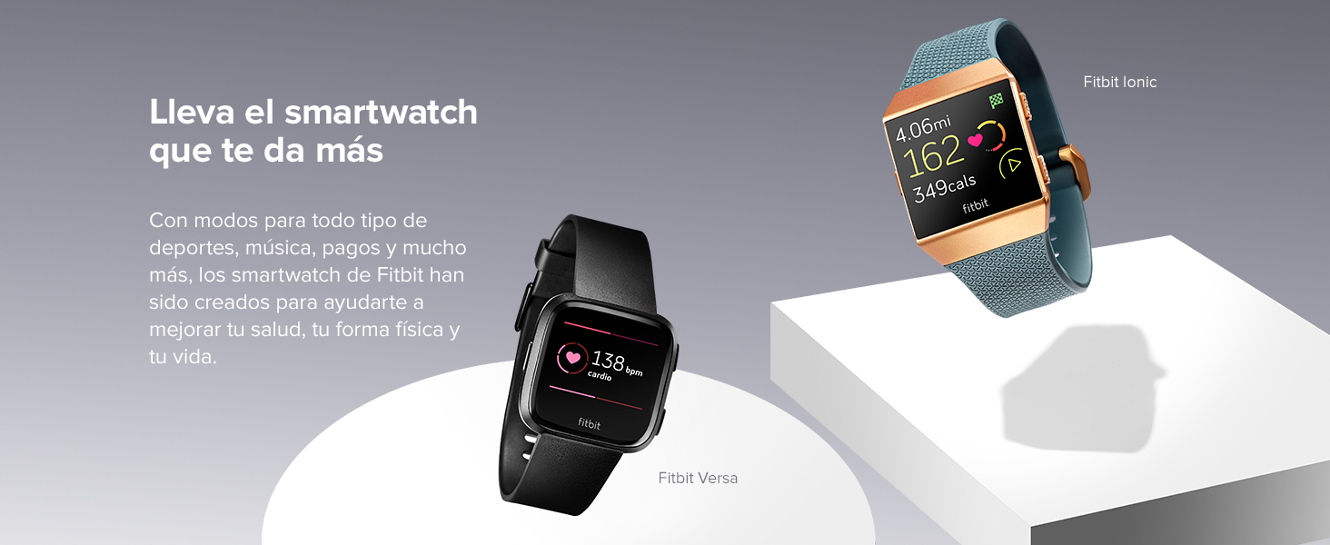 Fitbit Ionic, El Smartwatch Deportivo, Carbón/Gris Cobalto: Fitbit ...