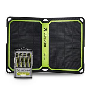 Goal Zero Guide 10 Plus Solar Recharging Kit with Nomad 7 Plus Solar Panel, 2300mAh Power Bank, AA & AAA Battery Recharger with 7 Watt Foldable ...