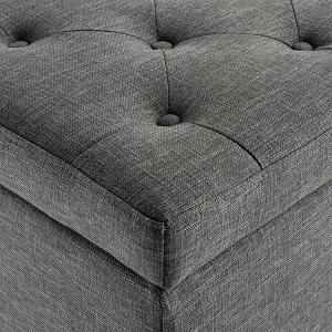 grey storage ottoman
