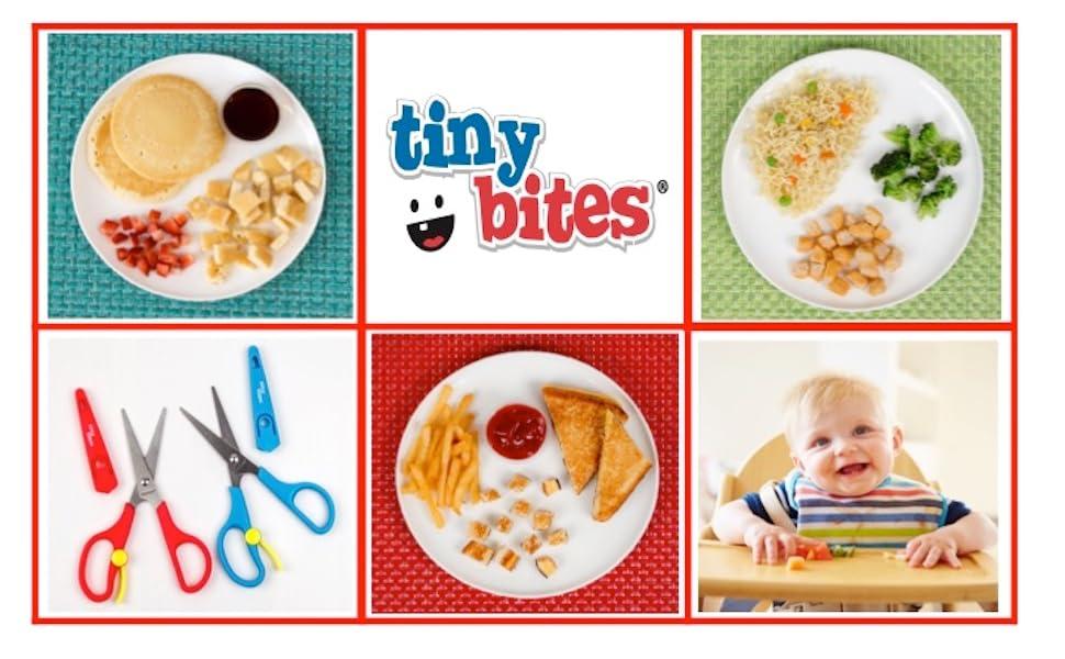 tiny bites, food scissors, food shears, cutting food, baby meals