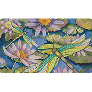 beautiful;dragonfly;waterlily;lily;flower;pond;pad;floral;spring;springtime;insect