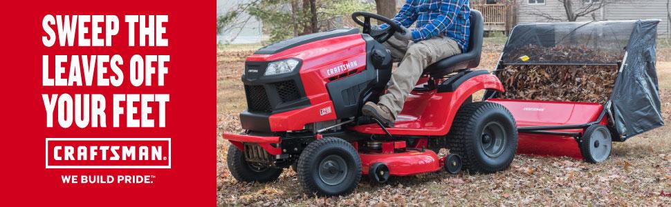 Craftsman CMXGZBF7124266 42 22-cu ft Hi-Speed Tow Lawn Sweeper, Red
