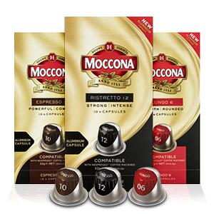 Moccona coffee, Moccona capsules, coffee machine, Moccona brand