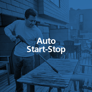 Auto start stop, technology, motor, high pressure washer, Nilfisk, outdoor, cleaning