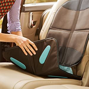 car seat protector with grip; best car seat protector