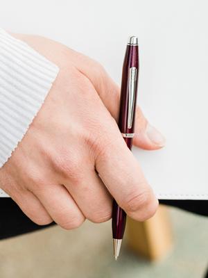 High quality 855 Rose gold School student office Medium Nib Ballpoint Pen New