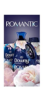 downy infusions fabric conditioner romantic scent, washing machine, dryer, fabric softener, beads