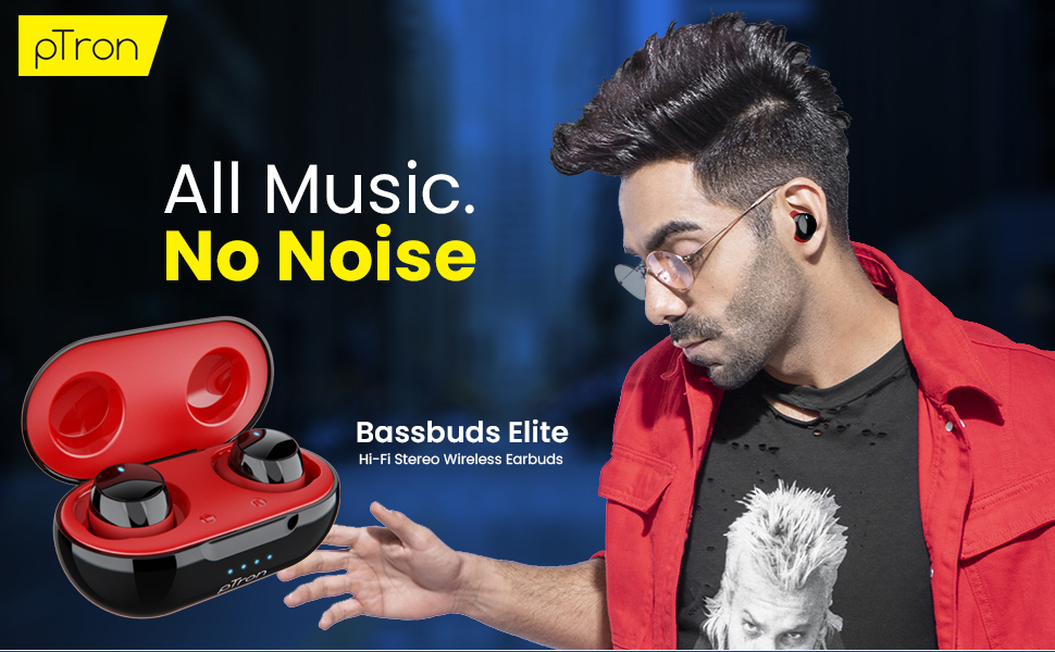 pTron Bassbuds Elite Bluetooth Headphones