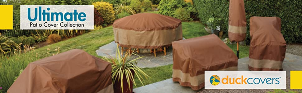 Ultimate Round Patio Table with Chairs Cover