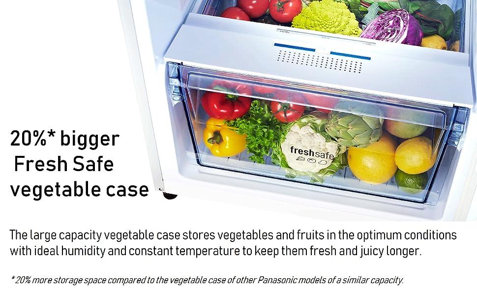 20%* bigger Fresh Safe Vegetable Case