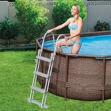 Power Steel Swim Vista Series - Piscina Ovalada con Ojal ...