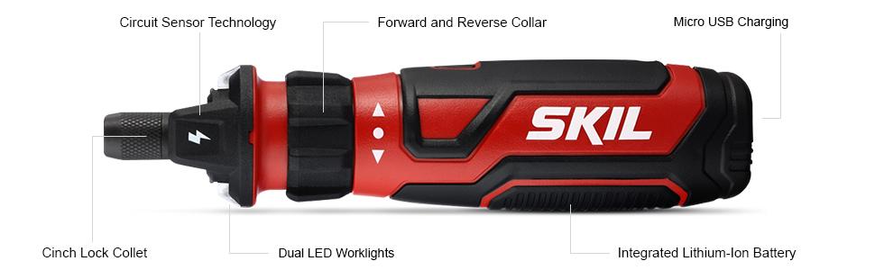 SKIL,4V, power screwdriver, circuit sensor, DIY