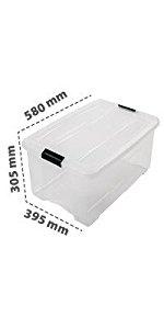 Boîte de rangement New Top Box en plastique 45 L