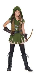 Tween Girl Costume, Girl Robin Hood, Disney, Renaissance, Medieval, Archer, Green Costume