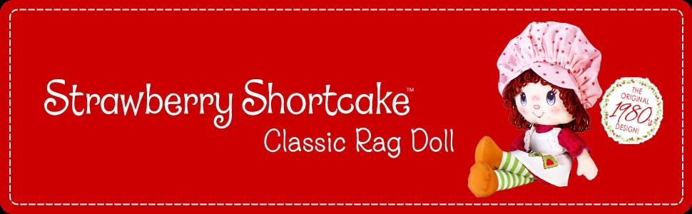 Large Strawberry Shortcake Soft Doll product image with logo and stylized background