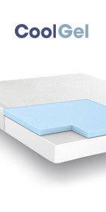 Queen 8 Inch cool gel memory foam mattress, gel mattress queen, best firm cool ...