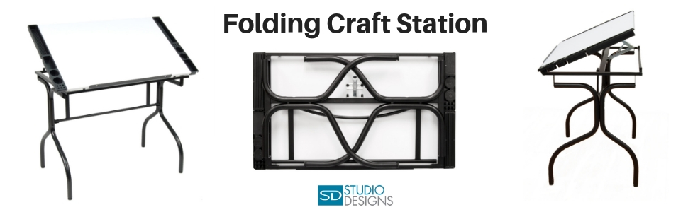 folding craft table, fold away drawing table, studio designs